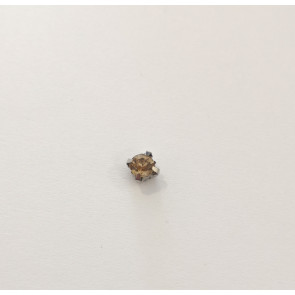 steklene perle v kovinski osnovi 4,5 mm, topaz, 1 kos
