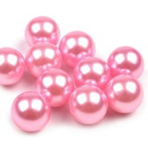 plastične perle brez luknje 10 mm, sv. roza, 1 kos
