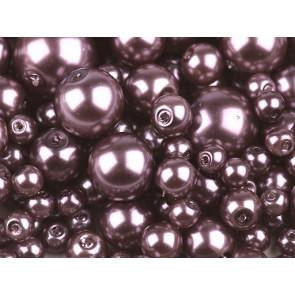 """steklene perle - imitacija biserov, velikost: Ø4-12 mm, """"Altrosa"""" b., 50 g (ca.191 kos)"""