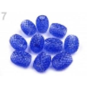 perle iz um. mase z veliko luknjo, 13 x 15 mm, b. kraljevo modra, 1 kos