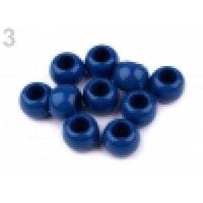 perle iz um. mase z veliko luknjo, 11 x 14 mm, t. modra, 1 kos