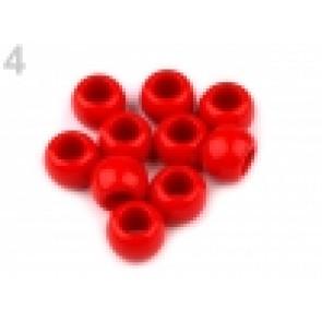 perle iz um. mase z veliko luknjo, 11 x 14 mm, rdeča, 1 kos
