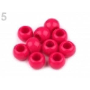 perle iz um. mase z veliko luknjo, 11 x 14 mm, b. maline, 1 kos