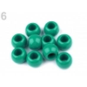 perle iz um. mase z veliko luknjo, 11 x 14 mm, smaragdno zelena, 1 kos