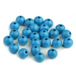 "lesene perle okrogle 10 mm, ""baby"" modre, 50 g (caa 175 kos)"