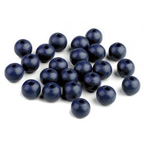 lesene perle okrogle 10 mm, modro-sive, 50 g (caa 175 kos)
