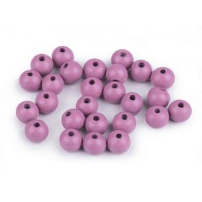 lesene perle okrogle 10 mm, sv. vijolične, 50 g (caa 175 kos)