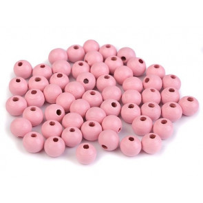 "lesene perle okrogle 8 mm, ""light pink"", 50 g (caa 300 kos)"