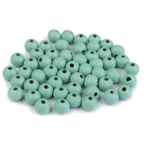 "lesene perle okrogle 8 mm, ""mint light"", 50 g (caa 300 kos)"