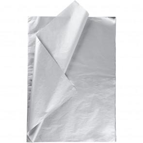 svilen papir (Tissue Paper) 14 g, 50x70 cm, srebrna b., 1 kos