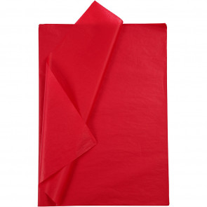svilen papir (Tissue Paper) 14 g, 50x70 cm, Red, 1 kos