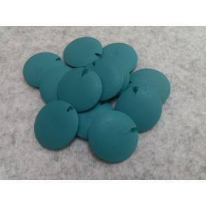 lesene perle ploščate - okrogle 25 mm, t.modre, 5 kos
