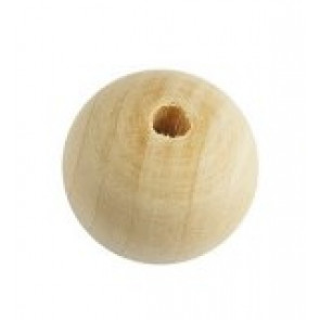 lesene perle, 25 mm okrogle, naravne, 1 kos