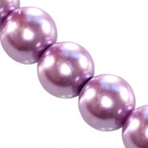 steklene perle, okrogle 8 mm, vijola, 1 niz - 80 cm