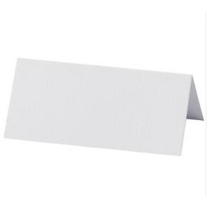 kartica za sedežni red, bela b., relief tekstura, 9x4 cm, 220 g, 1 kos