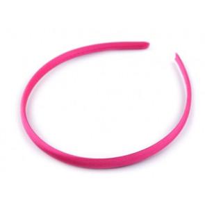 obroč za lase 1 cm, pink b., 1 kos