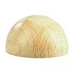 lesena kapljica, 25 mm, naravna, 1 kos
