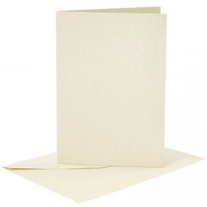 kuverta, 11,5x16,5 cm, 120 g,  bleščeča - šampanjec barva, 1 kos