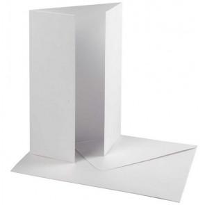 kuverta, 11,5x16,5 cm, 230 g, bele b., 1 kos