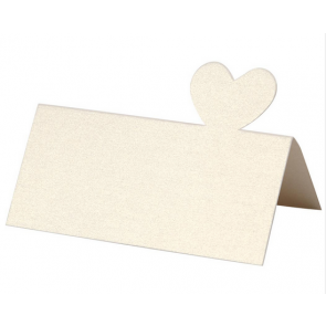 "kartica za sedežni red, ""off white"" umazano bela b., srce, 8,5x8 cm, 120 g, 1 kos"