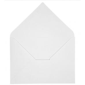 kuverta, 11,5x16,5 cm, 120 g, bele b., 1 kos