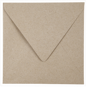 kuverta, 16x16 cm, 120 g, rjave b., 1 kos