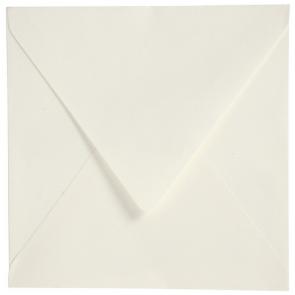 "kuverta, 16x16 cm,110 g,  ""off white"" umazano bele b., 1 kos"