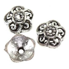 dekorativna kapa 9 mm, kovinska, 10 kos