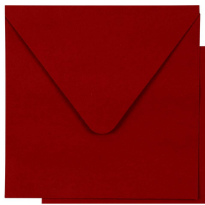 kuverta, 13.5x13.5 cm, 100 g, rdeča b., 1 kos