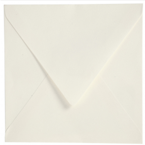 "kuverta, 13.5x13.5 cm, 100 g, ""off white"" umazano bele b., 1 kos"