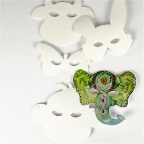 maska iz kartona 13-24 cm, za poslikavo, opica, z elastiko, 1 kos