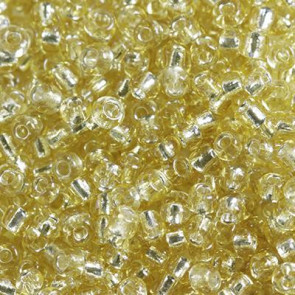 steklene perle 2 mm, zlate, 20 gr