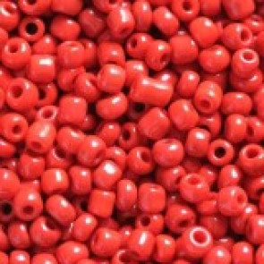 steklene perle 2 mm, rdeče, neprosojne, 20 gr