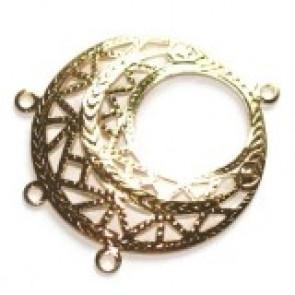 dekorativni dodatek 2,5 cm z zanko, pozlačen, 1 kos