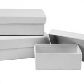škatla iz kartona 6x8.5 cm, bela, 1 kos