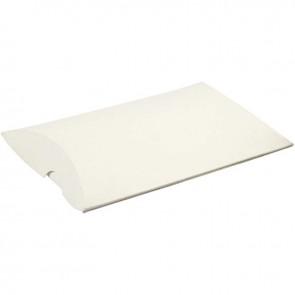 darilna škatla 10x8x2 cm, bela, 1 kos