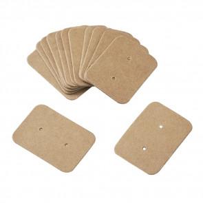kartonček za uhane 35x25x0.5 mm, naravne b., 1 kos