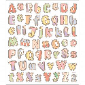 nalepke, 15x16,5 cm, motiv abeceda, samolepilne, 1 pola (56 nalepk)