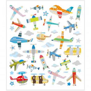 nalepke, letala, 15x16.5 cm, 1 pola
