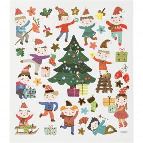 nalepke, Božič za otroke, 15x16.5 cm, 1 pola