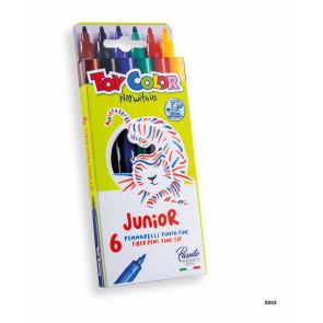 otroški flomastri na vodni osnovi Toy Color - pralni, konica: 2.8 mm, 1 komplet (6 kosov)