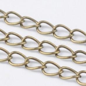 kovinska osnova za ogrlico, debelina: 0,7 mm, antik, 1 m