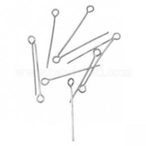 igle za perle 1.6cm~5 cm, platinaste b., brez niklja, 50 gr