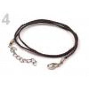 osnova za ogrlico - bombažna, rjava, 45 cm, 1 kos
