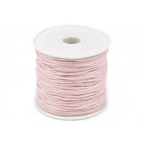 bombažna vrvica 1 mm, pale pink, dolžina: cca 25 m