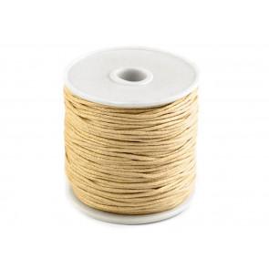 bombažna vrvica 1 mm, light beige, dolžina: cca 25 m