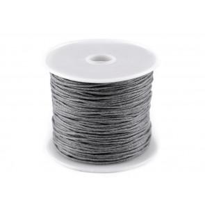 bombažna vrvica 1 mm, grey, dolžina: cca 25 m