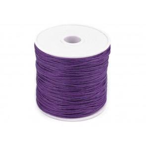 bombažna vrvica 1 mm, black violet lig., dolžina: cca 25 m