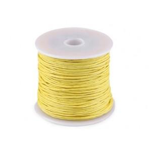 bombažna vrvica 1 mm, rumena b., dolžina: cca 25 m