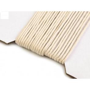 bombažna vrvica beige, 2 mm, dolžina: 10 m